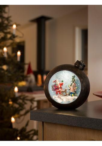 KONSTSMIDE LED Weihnachtskugel mit Weihnachtsmann mit Kindern kaufen