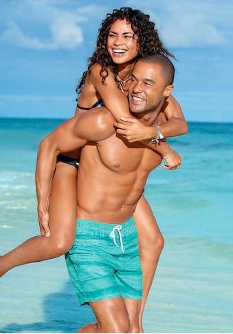 s.Oliver Beachwear Badeshorts, meliert kaufen