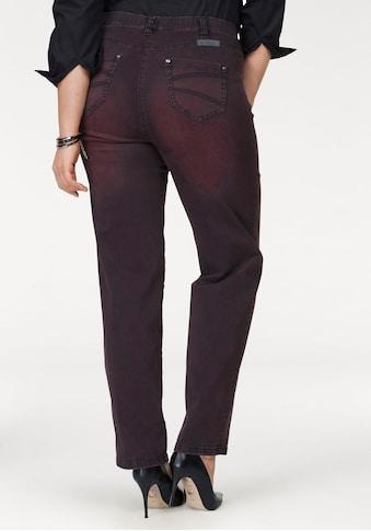 KjBRAND Straight-Jeans »Babsie: bequemer Oberschenkel«, Super Stretch, Overdyed Denim kaufen