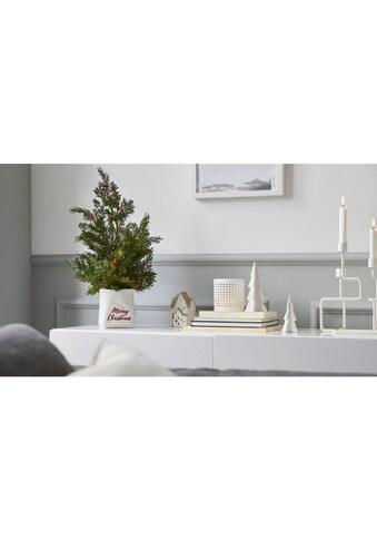 Dekobaum »Merry Christmas«, Tannenbaum aus Polyresin und Kunststoff kaufen