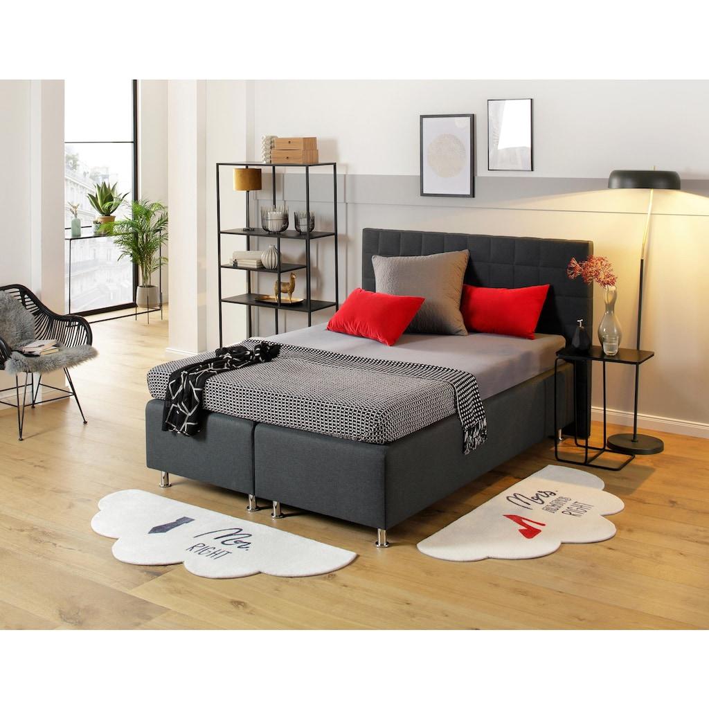 my home Bettumrandung »Mr.&Mrs.«, Bettvorleger, Bettvorlage mit Schriftzug, neue Form und Design