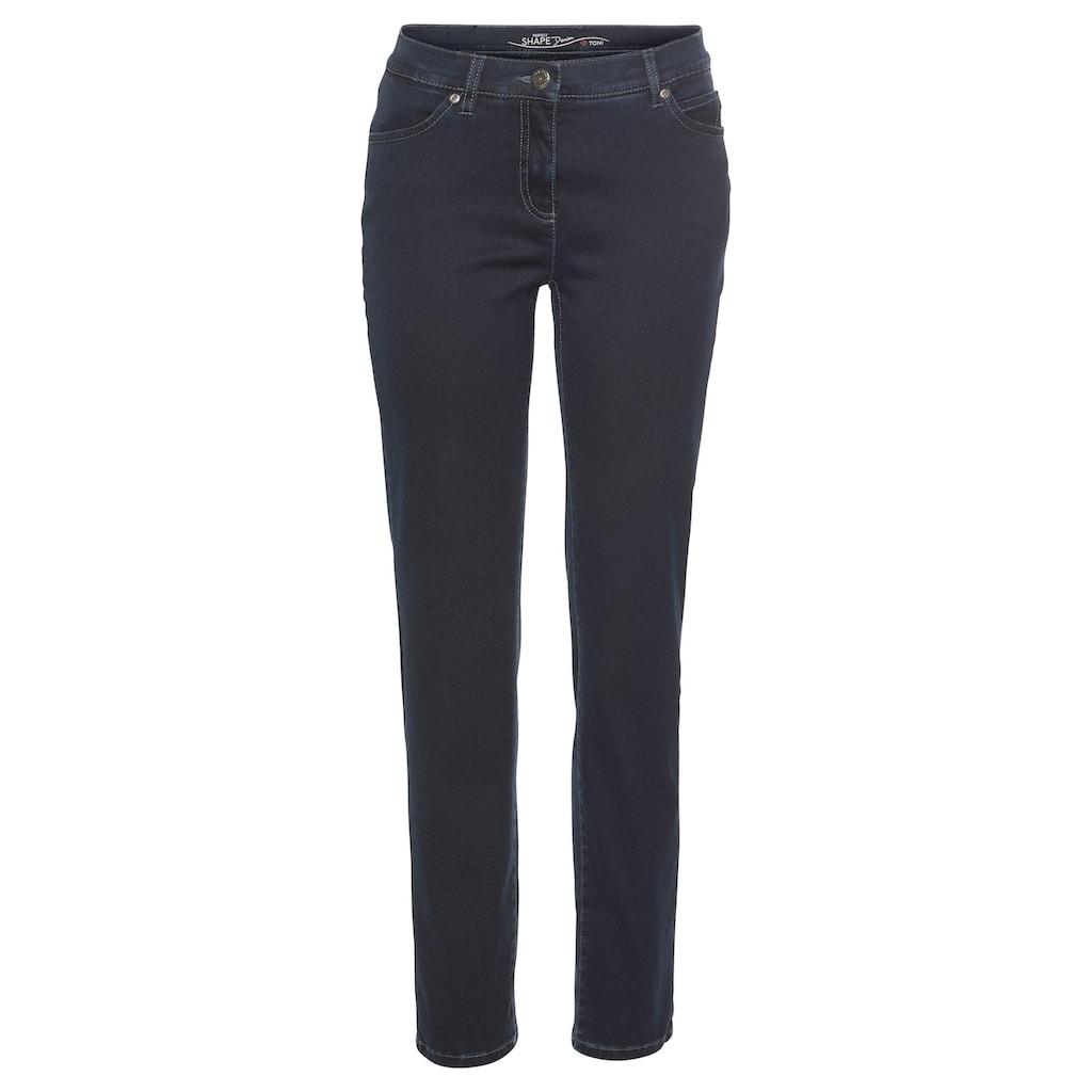 TONI Slim-fit-Jeans »Perfect Shape Slim«, Schmaler gerader Schnitt mit krempelbarem Saum