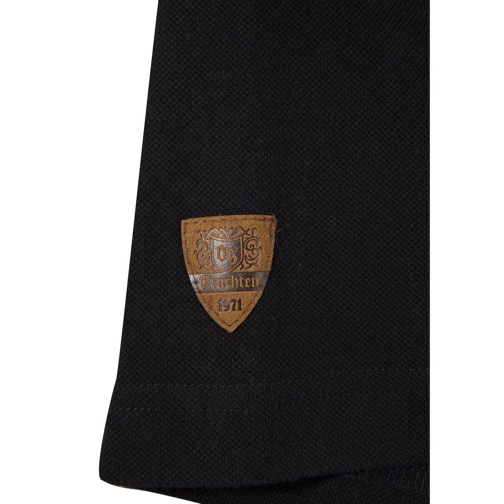 OS-Trachten Trachtenshirt, Herren mit Seitenschlitzen