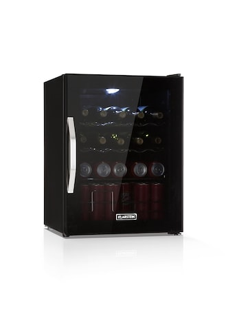 Klarstein Getränkekühlschrank LED 4 Metallroste Glastür schwarz »Beersafe XL Onyx« kaufen