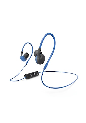 "Hama Bluetooth® - Sport - Kopfhörer ""Run BT"", In - Ear, Mikrofon »Inkl. Ohrbügel -  Blau/Schwarz« kaufen"