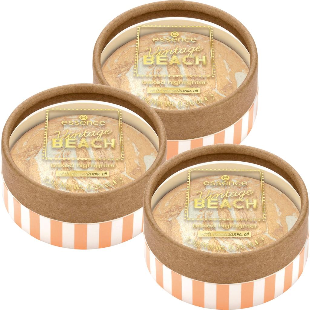 Essence Highlighter »Vintage BEACH baked highlighter«, (Set, 3 tlg.)