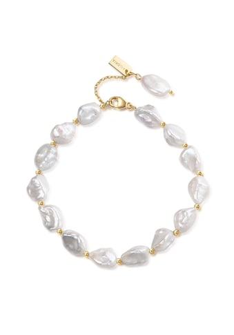 AILORIA Armband »SUMI gold/weiße Perle«, 925 Sterling Silber vergoldet Süßwasserperle kaufen