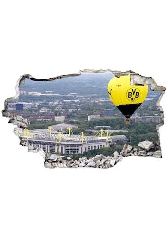 Wall-Art Wandtattoo »3D Fußball BVB Heißluftballon« kaufen