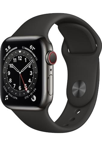 Apple Smartwatch »Apple Watch Series 6 GPS + Cellular, Edelstahlgehäuse, 40 mm mit Sportarmband« ( kaufen