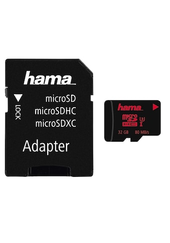 Hama micro SDHC 32 GB UHS Speed Class 3 UHS-I 80MB/s + Adapter kaufen