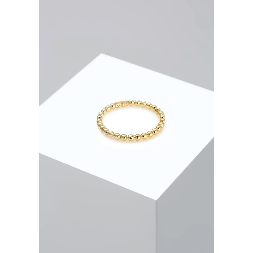 Elli Fingerring »Basic Bandring Geo Minimal Ball Look 375 Gelbgold«