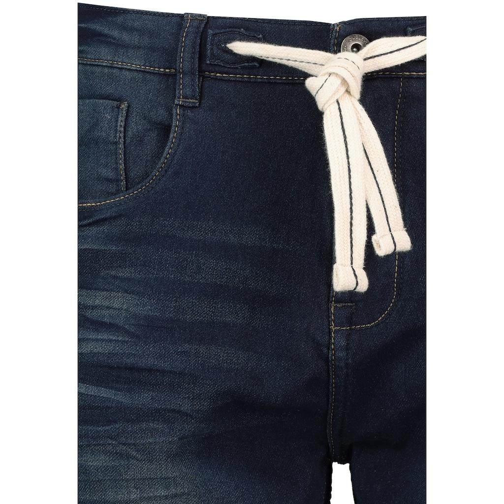 SUBLEVEL Jeansbermudas, mit Kordel