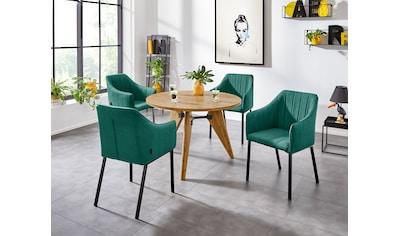 INOSIGN Esstisch »Mayla«, mit einer folierten Holzoptik Tischplatte, pflegeleichte... kaufen