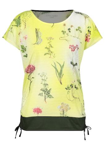 GERRY WEBER T - Shirt 1/2 Arm »Bedrucktes Shirt mit Raffdetail« kaufen