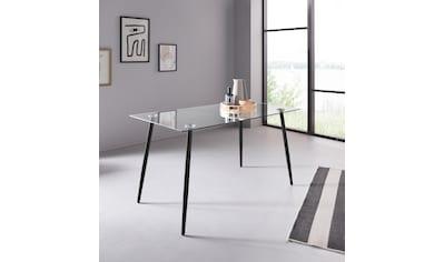 my home Glastisch »Danny«, Breite 140 cm kaufen