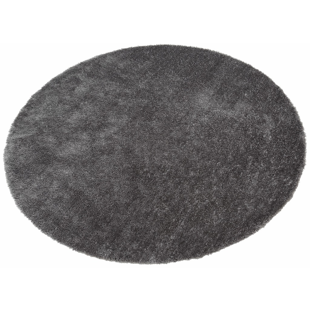 Bruno Banani Hochflor-Teppich »Dana«, rund, 30 mm Höhe, Besonders weich durch Microfaser, Wohnzimmer