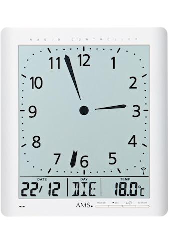 AMS Funkwanduhr »F5896«, mit Alarm kaufen