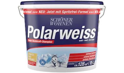 SCHÖNER WOHNEN Innenfarbe »Polarweiss«, 15 l, starke Deckkraft kaufen