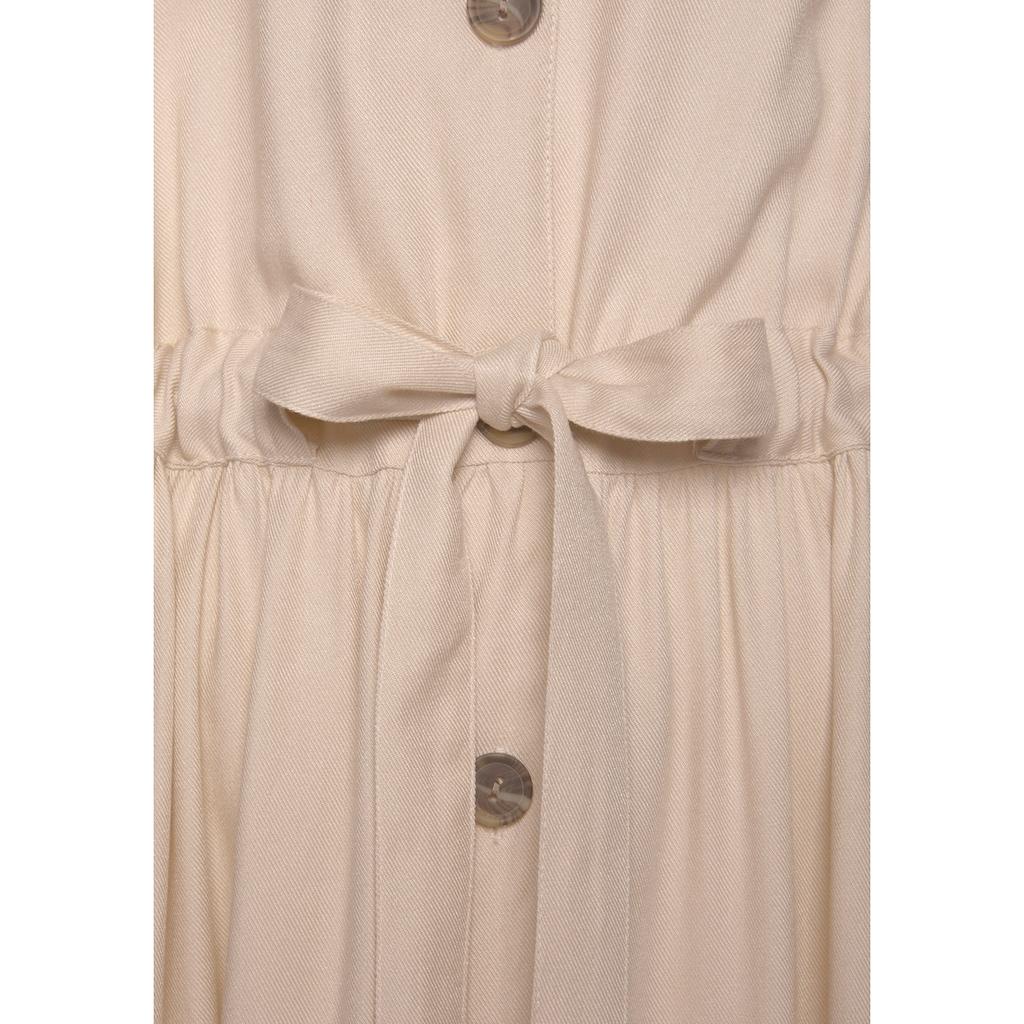 LASCANA Midikleid, aus gewebter Viskose