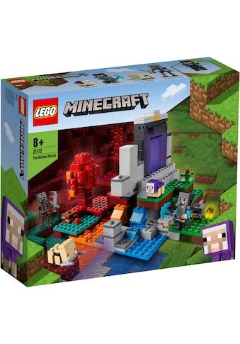LEGO® Konstruktionsspielsteine »Das zerstörte Portal (21172), LEGO® Minecraft™«, (316... kaufen