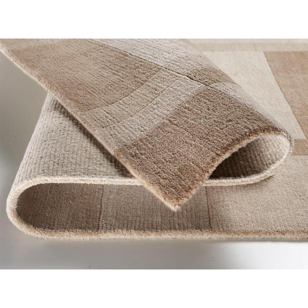 OCI DIE TEPPICHMARKE Wollteppich »Sikana Field«, rechteckig, 8 mm Höhe, reine Wolle, handgeknüpft, Wohnzimmer