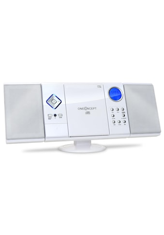 ONECONCEPT Stereoanlage Radio CD Player vertikal MP3 USB SD AUX Uhr Wecker kaufen