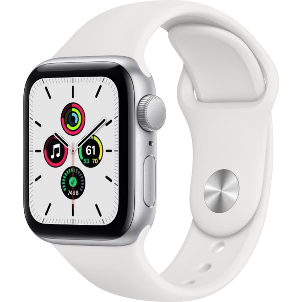 Apple Smartwatch »Series SE (2020), GPS, Aluminium-Gehäuse, 40 mm mit Sportarmband«