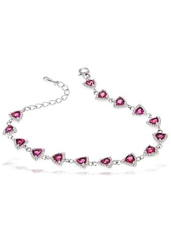 goldmaid Armband, 925 Silber mit pinkfarbenen Zirkonia kaufen