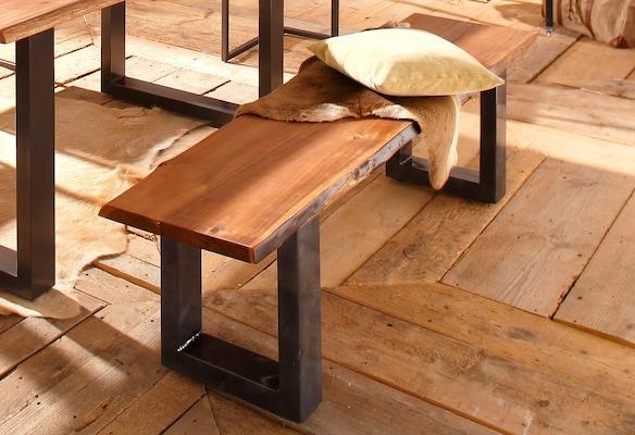rustikale Holzbank