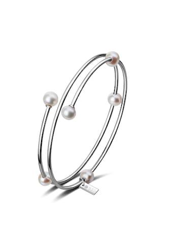 AILORIA Armband »MIDORI Armreif Silber/weiße Perle«, Größenverstellbar kaufen