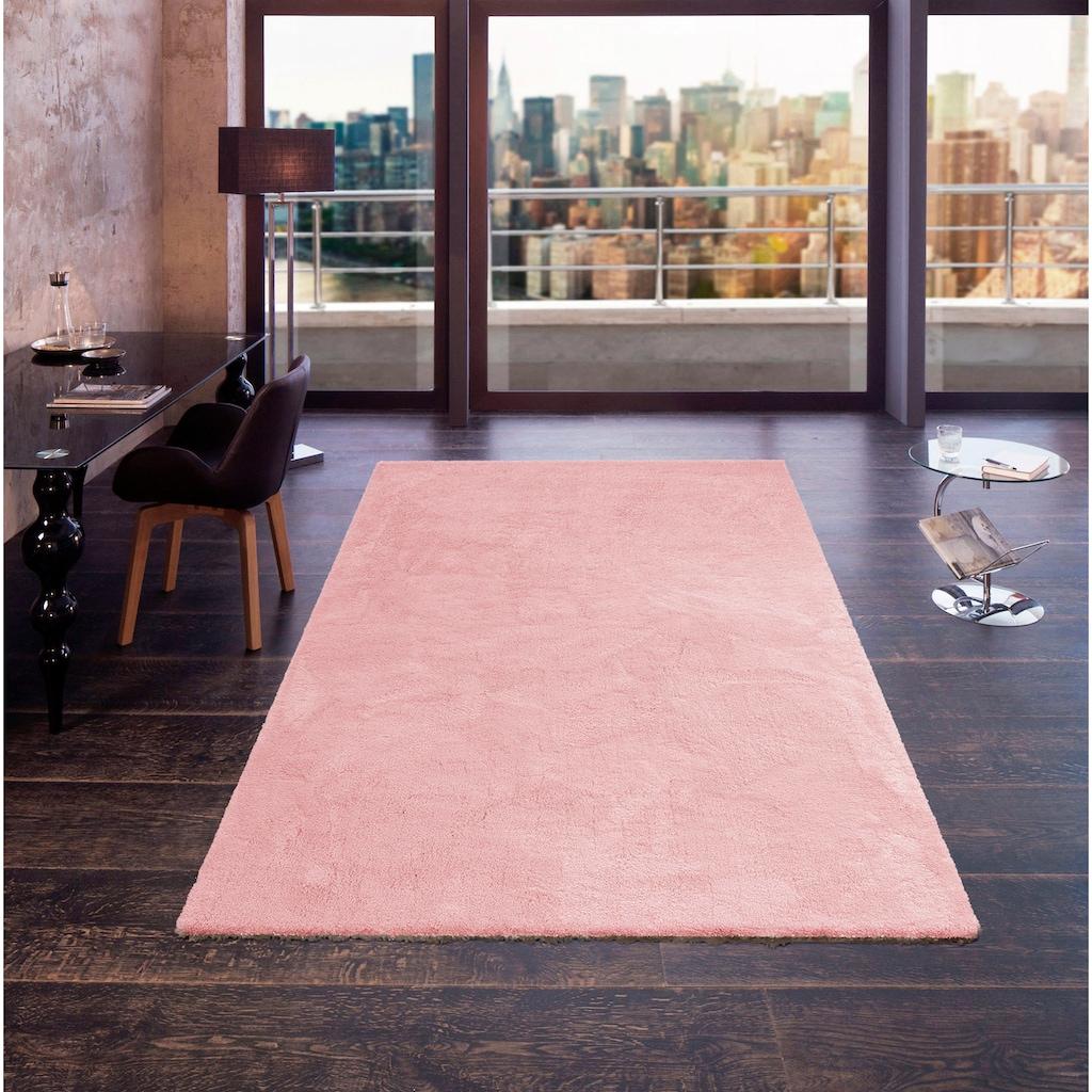 my home Hochflor-Teppich »Magong«, rechteckig, 25 mm Höhe, besonders weich durch Microfaser, Wohnzimmer