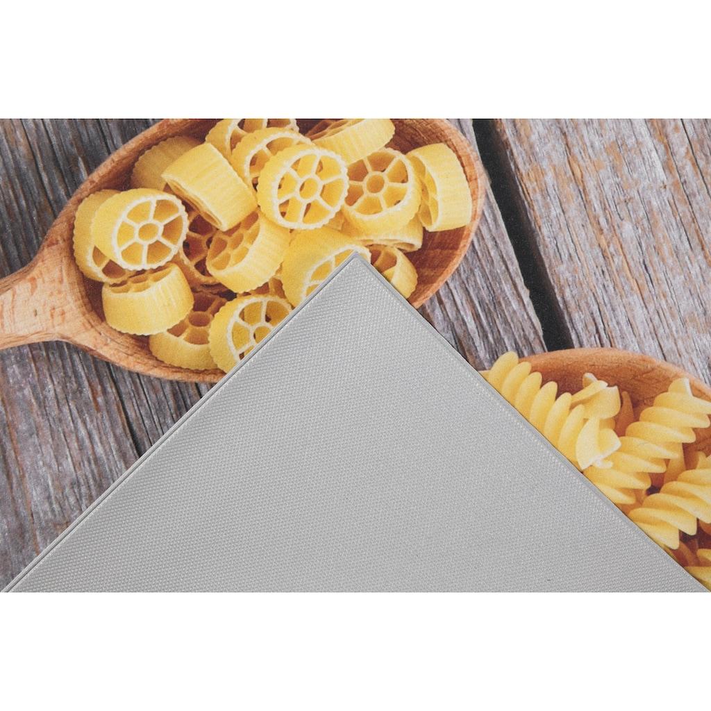 Andiamo Küchenläufer »Pasta«, rechteckig, 3 mm Höhe, Läufermatte aus Vinyl, abwischbar, rutschhemmend, Motiv Nudeln, Größe 50x150 cm, Küche