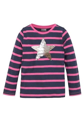 KIDSWORLD Paillettenshirt »Stern«, mit appliziertem Stern aus Wendepailletten kaufen