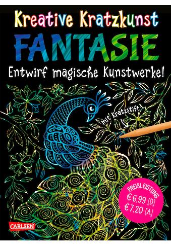 Buch Kreative Kratzkunst: Fantasie: Set mit 10 Kratzbildern, Anleitungsbuch und Holzstift / Anton Poitier; Anton Poitier kaufen