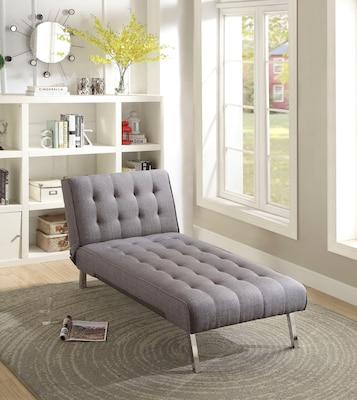 graue Relaxliege mit Vierfußgestell