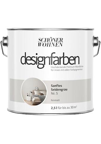 SCHÖNER WOHNEN-Kollektion Wandfarbe »Designfarben«, sanftes Seidengrau Nr. 5, feinmatt 2,5 l kaufen