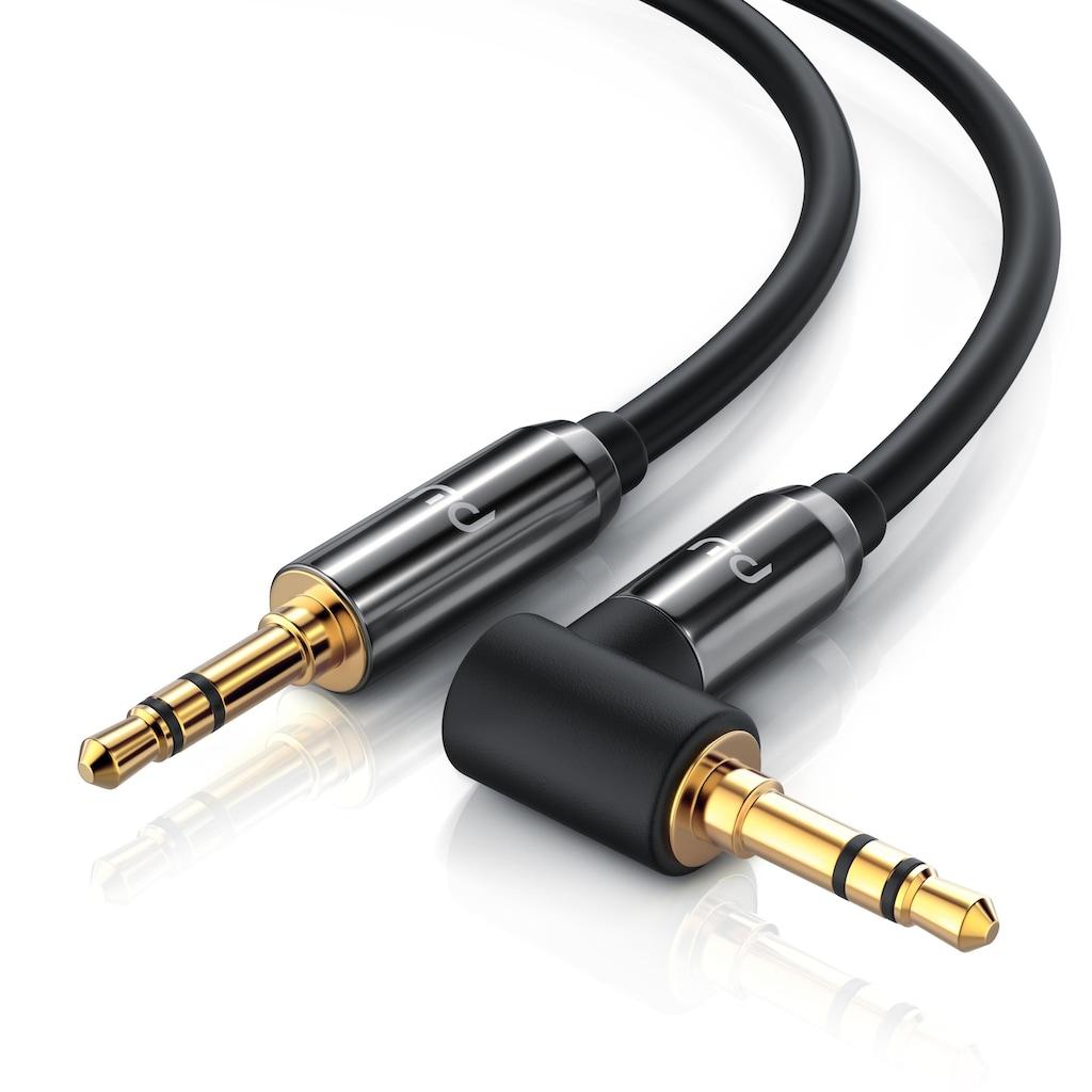 Primewire AUX Verbindungskabel 90° gewinkelt für Audiogeräte »3.5mm Stecker auf 3.5mm Stecker«