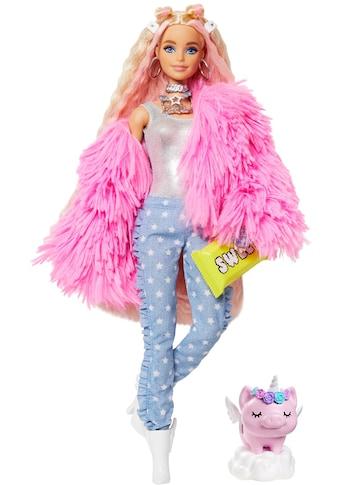 Barbie Anziehpuppe »EXTRA«, blond, mit flauschiger rosa Jacke kaufen