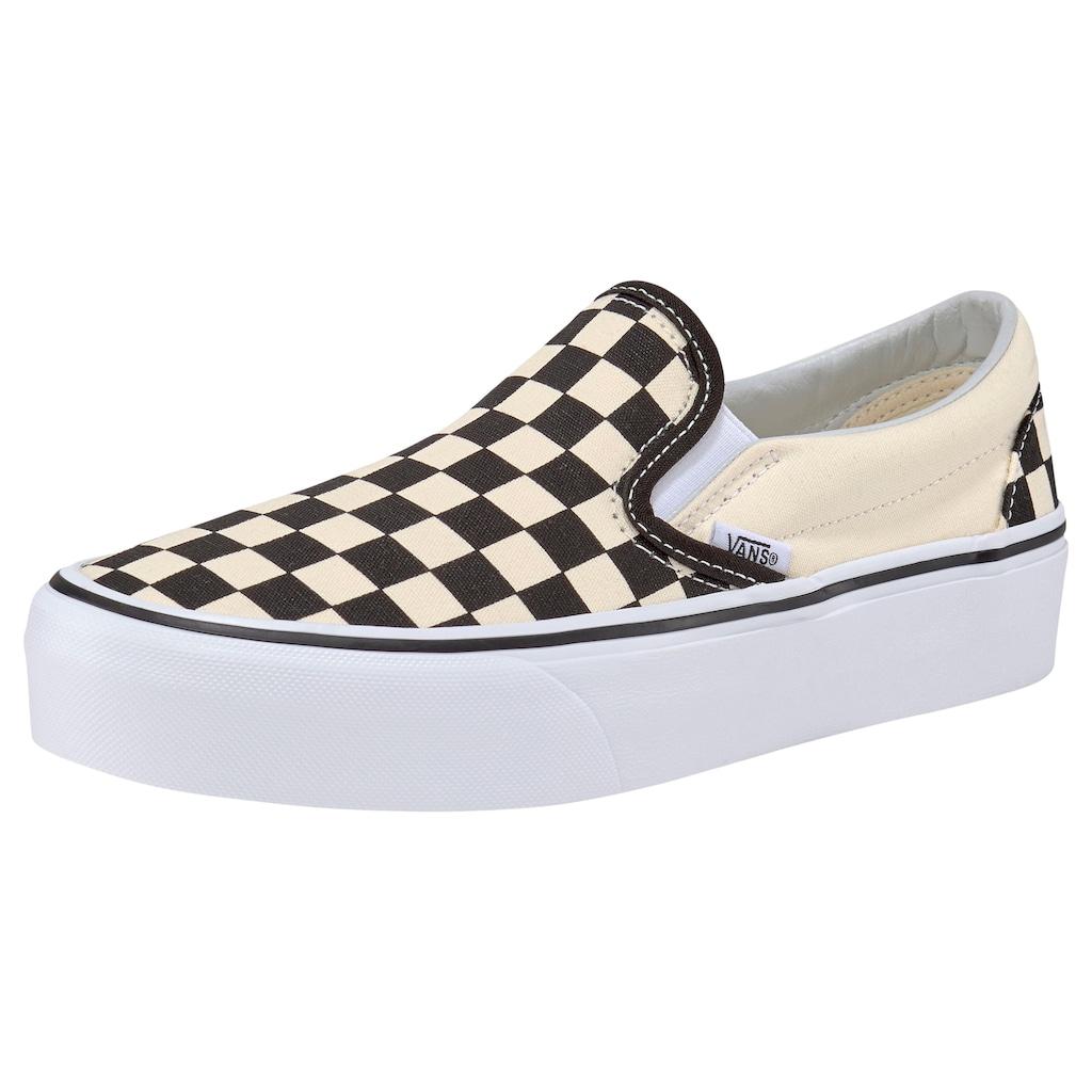 Vans Plateausneaker »Classic Slip-On Platform Checkerboard«