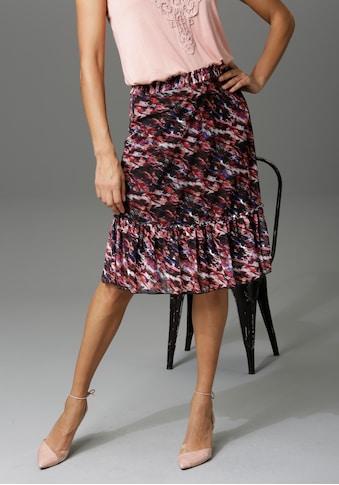 Aniston CASUAL Sommerrock, mit Blumendruck oder graphischem Muster - du hast die Wahl kaufen