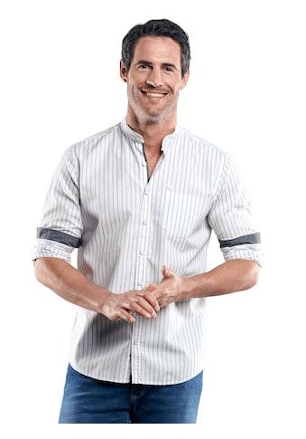 Engbers Gestreiftes Stehkragenhemd kaufen