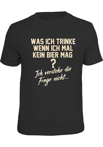 Rahmenlos T - Shirt mit lustigem Bier - Spruch kaufen