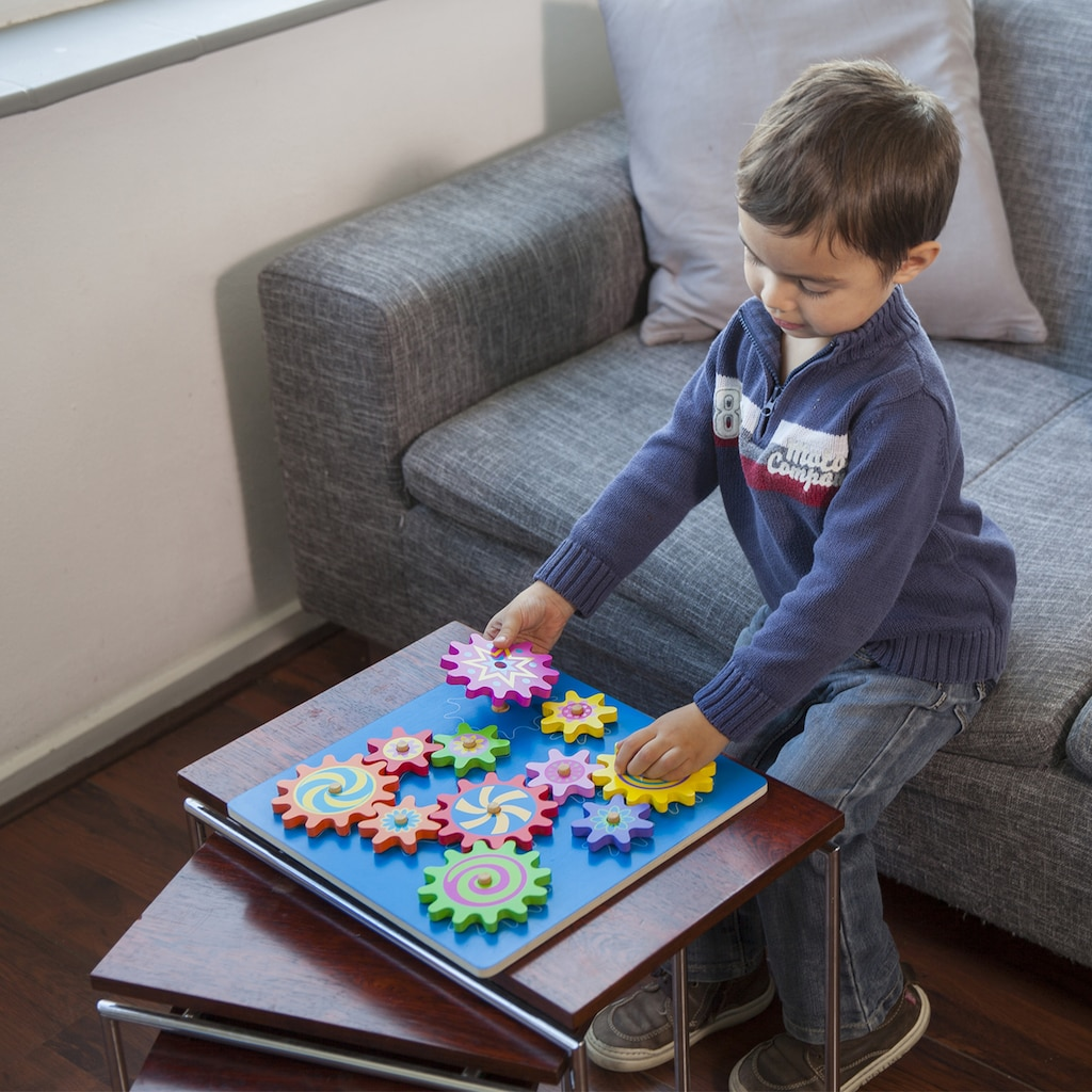 New Classic Toys® Steckpuzzle »Zahnradpuzzle«, aus Holz