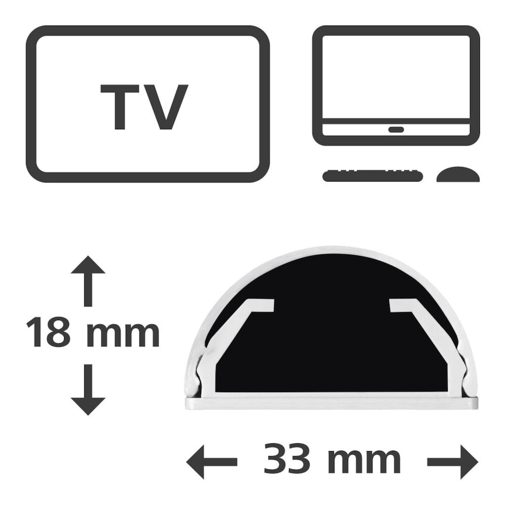 Hama Alu-Kabelkanal, halbrund, 110/3,3/1,8 cm, Weiß