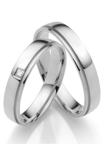 Firetti Trauring »glanz, Vertiefung in sandmatt, Diamantschnitt, 4,0 mm breit«, Made... kaufen