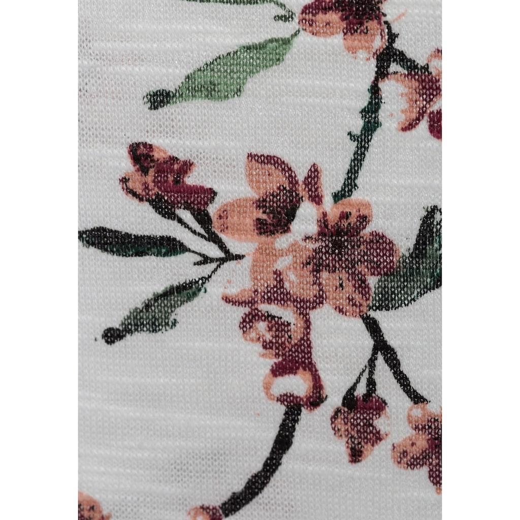 LASCANA T-Shirt, mit floralem Allover-Druck