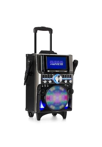 Auna Box 360 Party BT System 2 Mikrofone HDMI BT LED USB Rollen »DisGo 360 TFT« kaufen