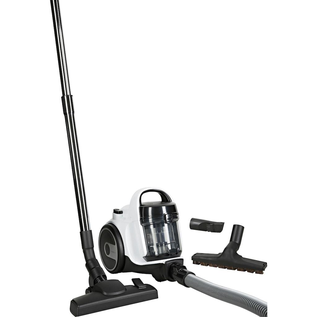 BOSCH Bodenstaubsauger »BGS05AAA1 Cleann'n«, 700 W, beutellos, Kompakt mit überzeugender Reinigungsleistung. Kann platzsparend verstaut werden.