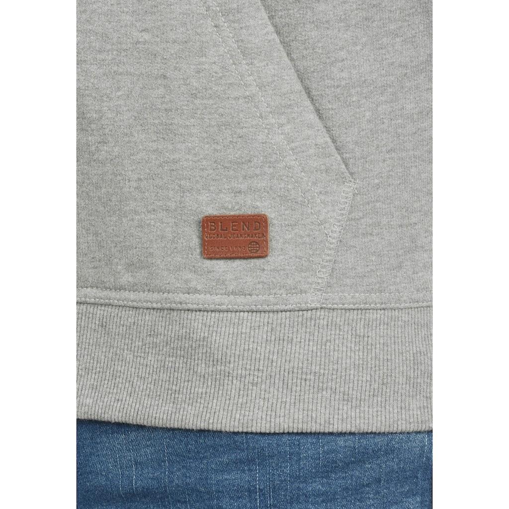 Blend Kapuzensweatjacke »Speedy«, Sweatshirtjacke mit hochabschließendem Kragen