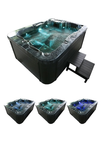 HOME DELUXE Whirlpool »Black Marble«, (Set), mit Treppe und Abdeckung, BxLxH:... kaufen